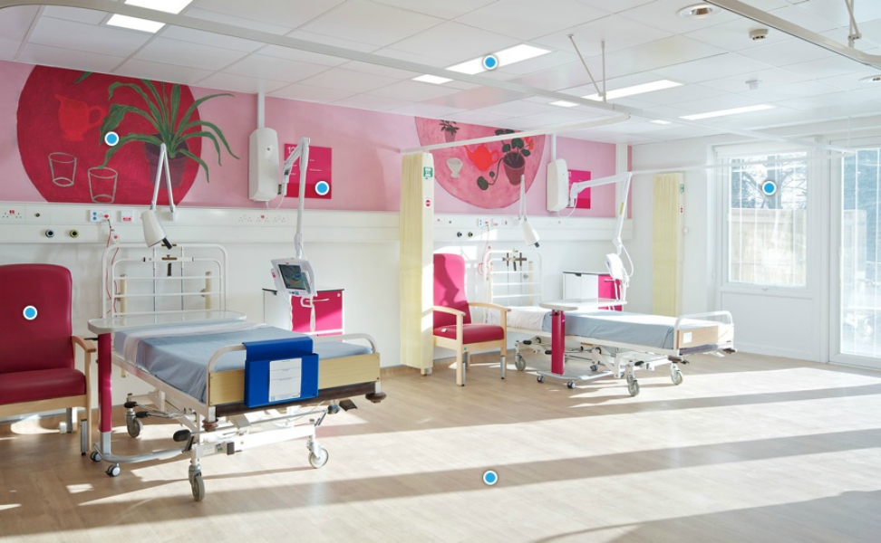 Beaconsfield East Ward Hillingdon Hospital | Medical Supply Unit | Bedhead Trunking System | Medical Joinery | Medical Furniture | Nurse Call System | Medical Gas | Healthcare Bedhead | Bedhead Module | Healthcare Luminaire